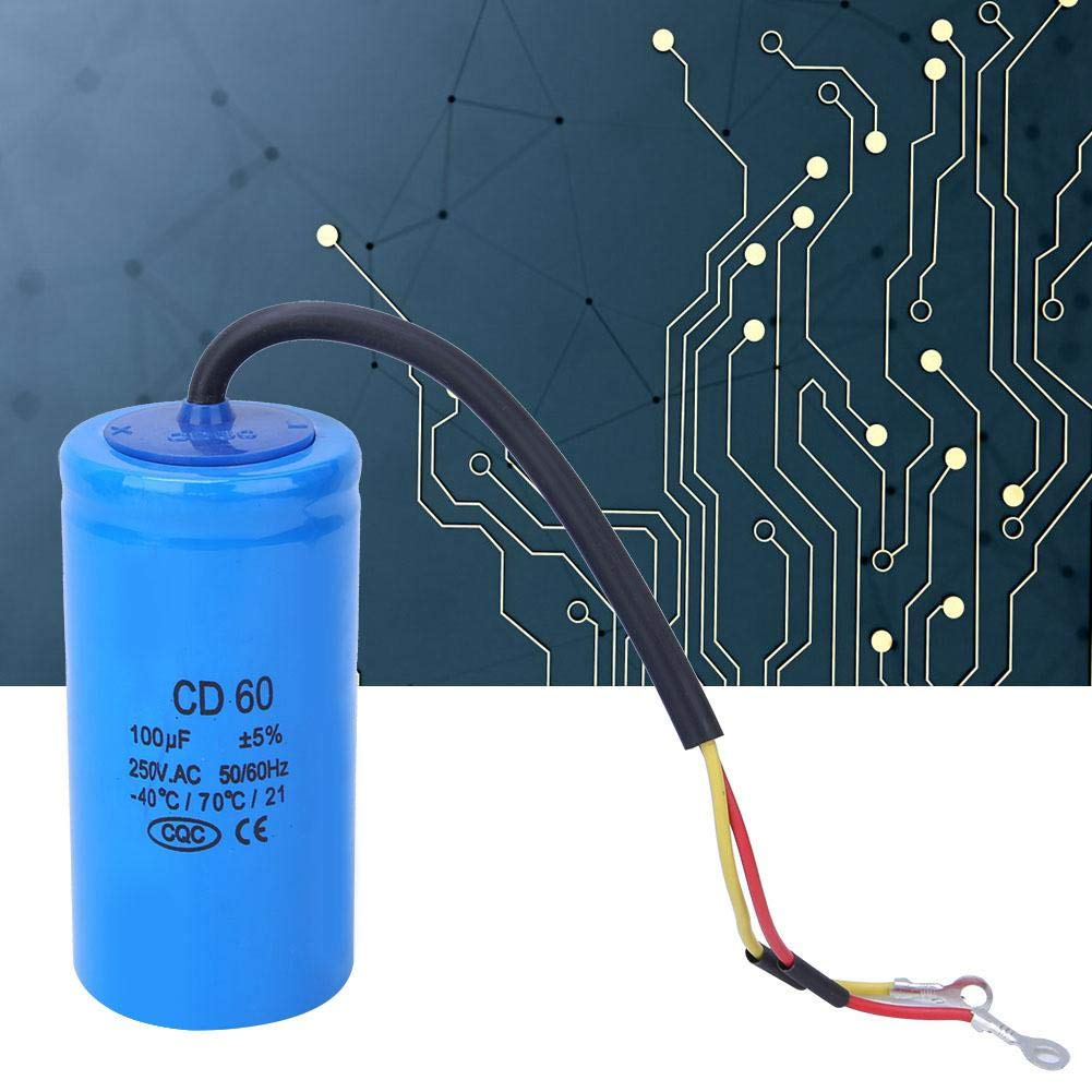 250V 100uf AC Round Capacitor Refrigerators CD60 50//60Hz Compressors Capacitor,Explosion-Proof Start Capacitor,for Air Conditioners