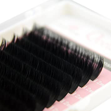 d3255367eaf Amazon.com : Matte Mink Ellipse Flat Eyelash Extensions 0.20mm thickness C  curl 10mm Rich Black Soft for Professional Salon Use : Beauty