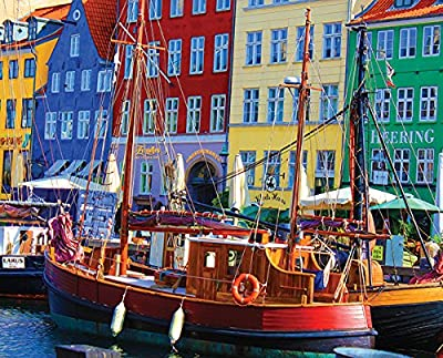 Springbok Puzzles - Copenhagen Waterfront 1000 Piece Jigsaw Puzzle - Large 24 Inches by 30 Inches Puzzle - Made in USA - Unique Cut Interlocking Pieces