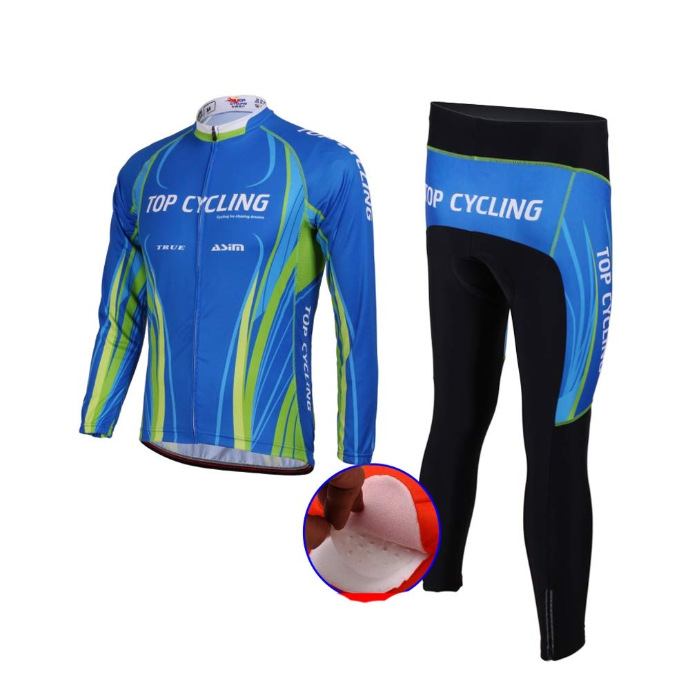 Cyclisme Costume Manches Longues Costume Hommes et Femmes de Printemps et dautomne Silicone Mat Originale Fil Tissu /Équipement v/élo /Équitation en Plein air Color : K, Size : XXXL