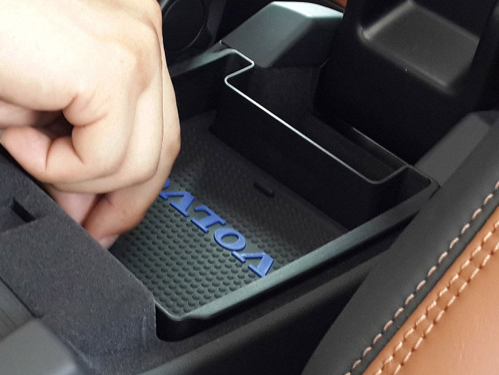 Noir Accoudoir Bo/îte de rangement Plateau Fit pour S60/S60l V60/XC60/2009 2017/avec tapis et logo Accessoires Auto