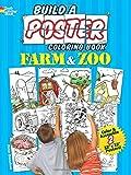 Build a Poster Coloring Book--Farm & Zoo (Dover Build A Poster Coloring Book)