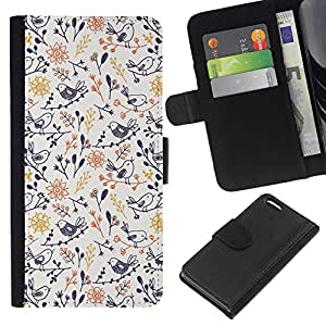 All Phone Most Case / Oferta Especial Cáscara Funda de cuero Monedero Cubierta de proteccion Caso / Wallet Case for Apple Iphone 5C // Porcelain Blue Yellow Wallpaper Pattern