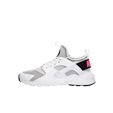 best loved 8b571 dbc45 Nike Air Huarache Run Ultra 847568-100 White Black Pink Blast (4Y