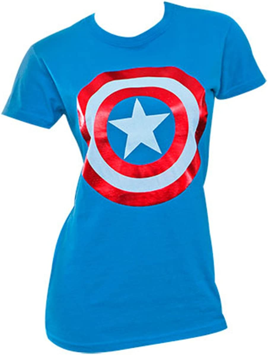 Captain America Women T-Shirt S-XXL Sizes Officially Licensed Marvel Comics