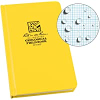 """Rite in the Rain Weatherproof Hard Cover Notebook, 4 3/4"""" x 7 1/2"""", Yellow Cover, Geological Pattern (No. 540F)"""