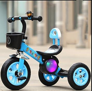 Sheng Los niños Triciclo Pedal luz bebé bebé con música Cochecito niño 2-6 años Bicicleta (Color : Azul): Amazon.es: Deportes y aire libre