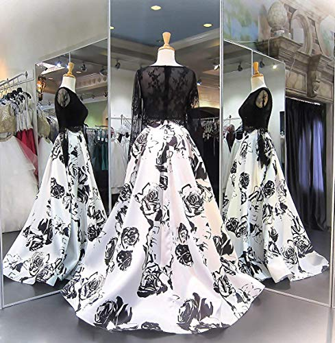 b7dc346921c00 Aurora Bridal Women's Floral Print 2018 Homecoming Dresses Long Formal Prom  Party Gown 559