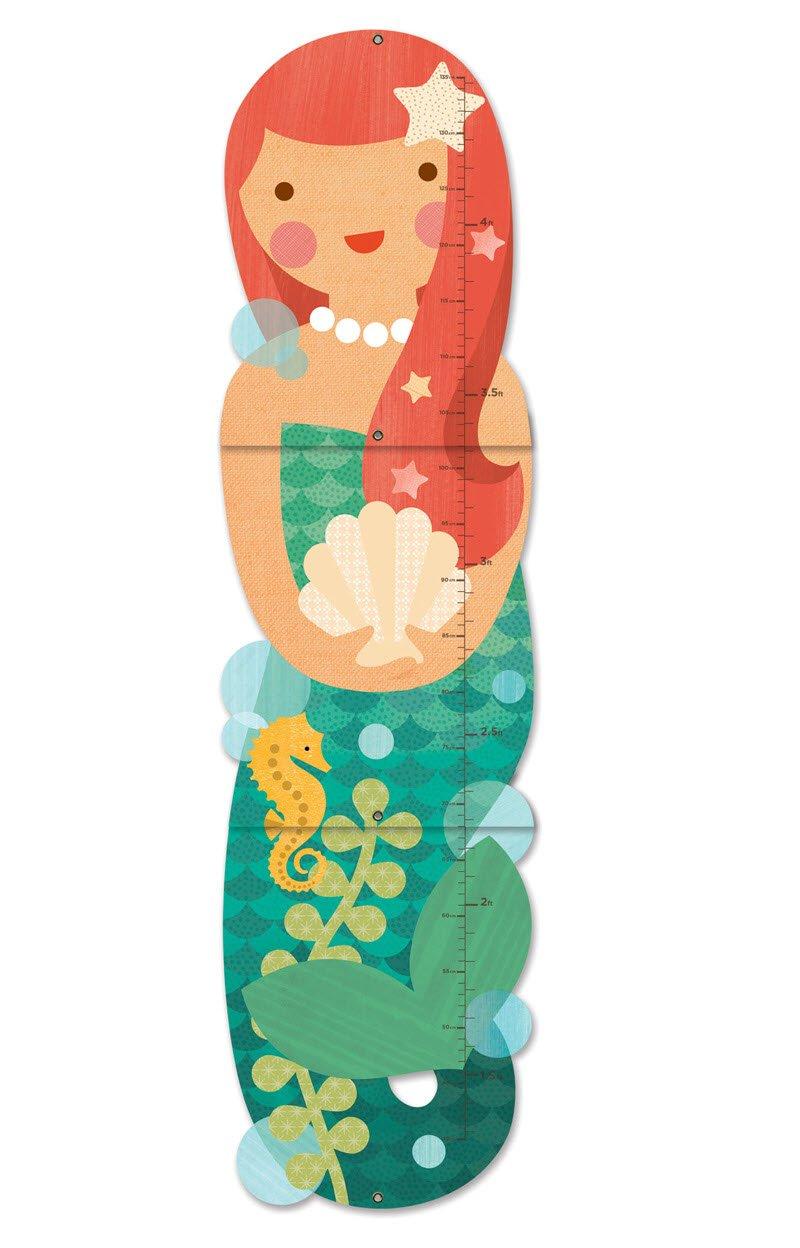 Petit Collage Little Miss Mermaid Folding Growth Chart GC-LITTLE MISS MERMAID