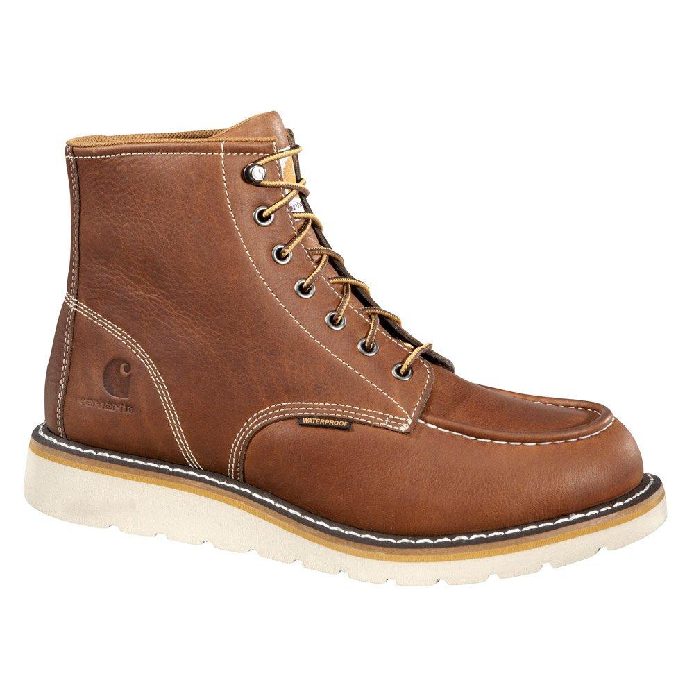 Carhartt Men's CMW6175 6-inch Waterproof Wedge Soft Toe Work Boot, Tan, 12 W US