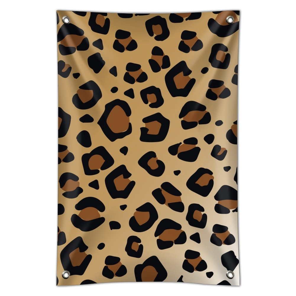 Leopard Print Animal Spots Home Business Office Sign - Vinyl Banner - 22'' x 33'' (56cm x 84cm) by Graphics and More