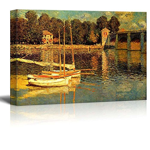 The Bridge of Argenteuil by Claude Monet Print Famous Oil Painting Reproduction