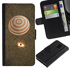 APlus Cases // Samsung Galaxy S5 V SM-G900 // Caliente aire globo Despegue Desierto Volar // Cuero PU Delgado caso Billetera cubierta Shell Armor Funda Case Cover Wallet Credit Card