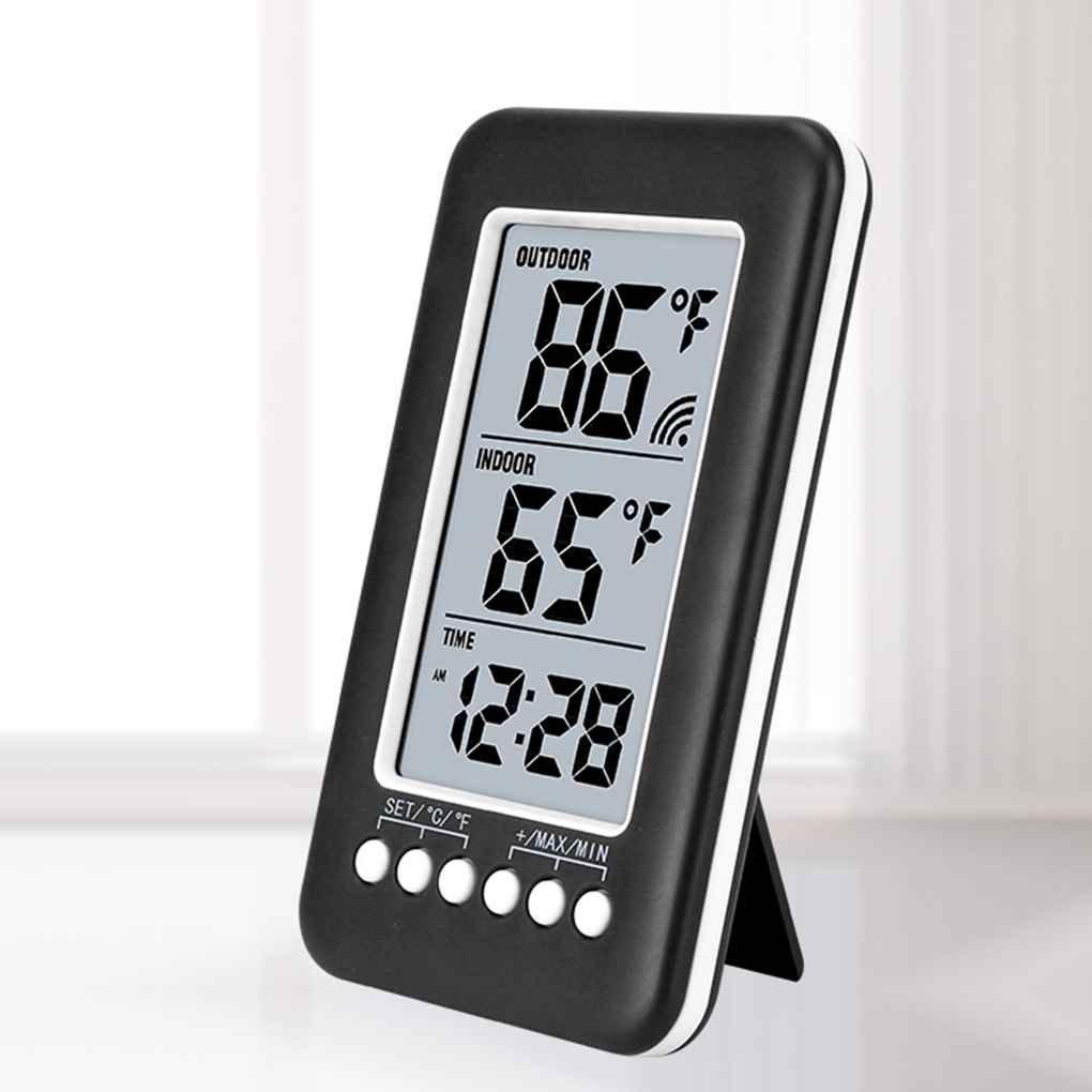 Termómetro inalámbrico LCD Reloj Termómetro digital exterior interior Medición electrónica de la temperatura con transmisor Regard: Amazon.es: Bricolaje y ...