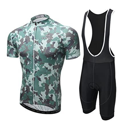 Xintown 2017 Cycling Jerseys Men Bike Shirts Camouflage Cycling Clothing  (Bib Suit 1 3757a6a96