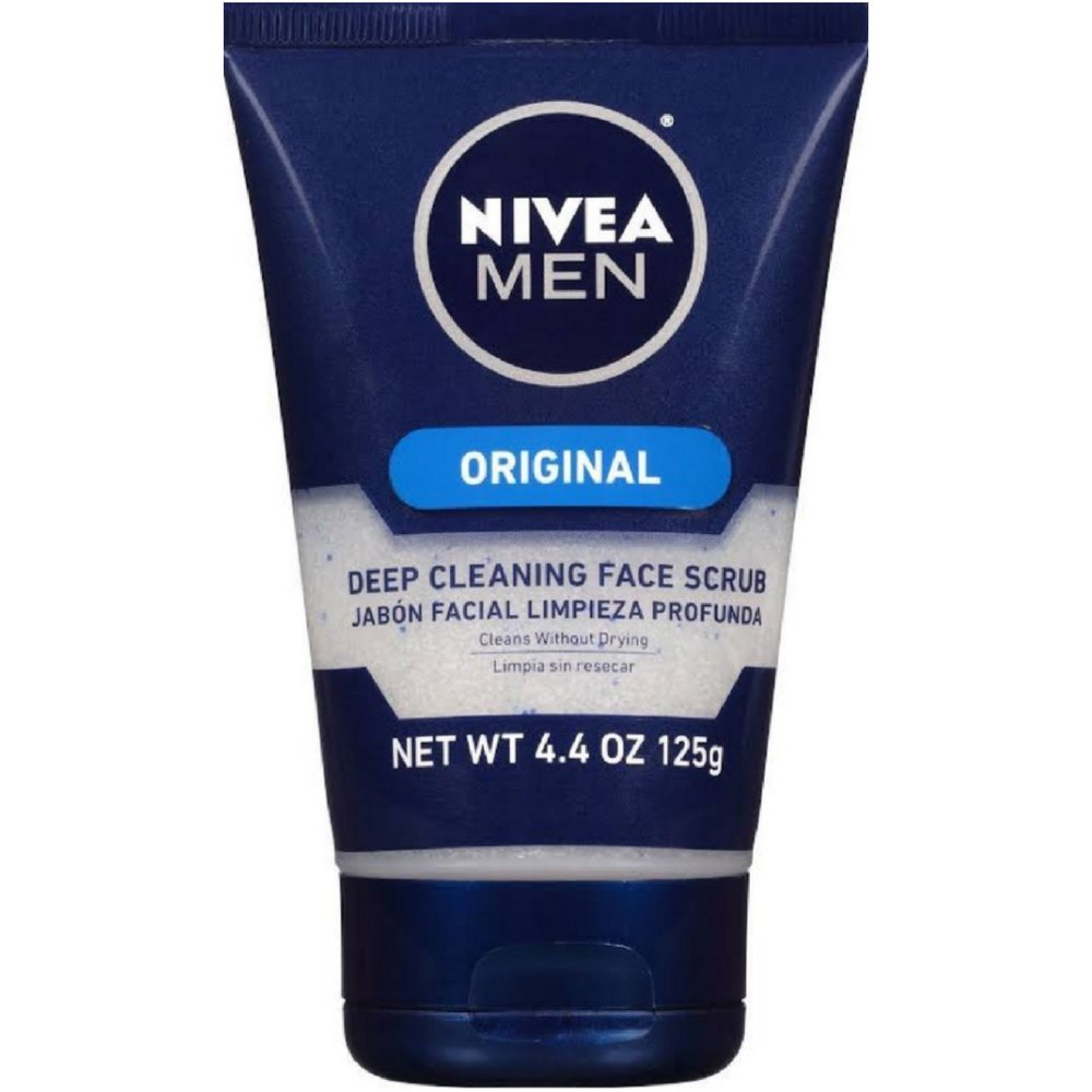 NIVEA FOR MEN Original, Deep Cleaning Face Scrub 4.4 oz (Pack of 5)