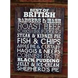 Best of British Food - Sign Plaque 40cm by Apple Green