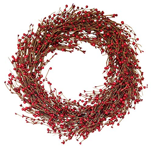 - The Wreath Depot Ellsworth Winter Red Berry Wreath, 22 Inches, Stunning Full Front Door Wreath for Winter Display, Designer Quality Transforms Decor