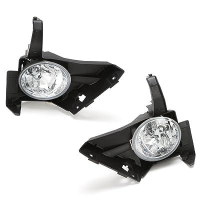 LEDIN For 2005 2006 Honda CR-V CRV Clear Bumper Driving Fog Light Kit w/Switch Wire Bulbs: Automotive