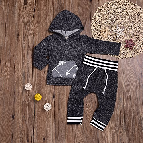 64f89a7f6 KONIGHT Toddler Infant Baby Boys Dinosaur Long Sleeve Hoodie Tops Sweatsuit  Pants Outfit Set