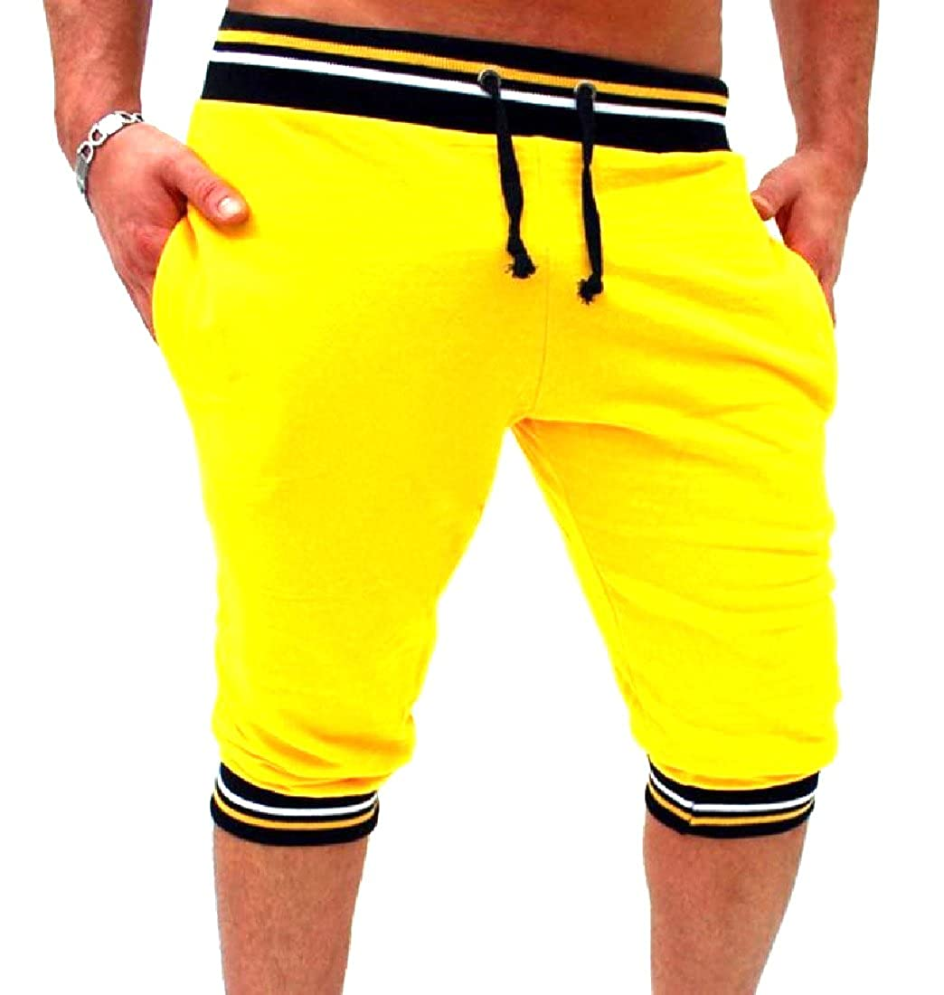 Sexybaby Men Thin Candy Color Oversized Running Shorts with Pockets