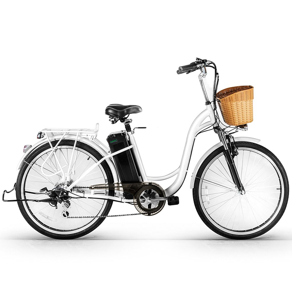 Nakto 26'' 250W Cargo-Electric Bicycle 6 speed e-Bike 36V Lithium Battery Aadult/Young Adult-Women