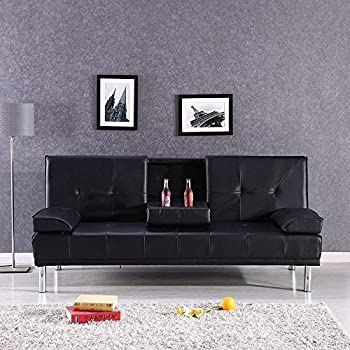 Amazon Com Best Choice Products Leather Faux Fold Down