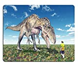 Luxlady Gaming Mousepad IMAGE ID: 37152030 Reckless tourist and the dinosaur Acrocanthosaurus