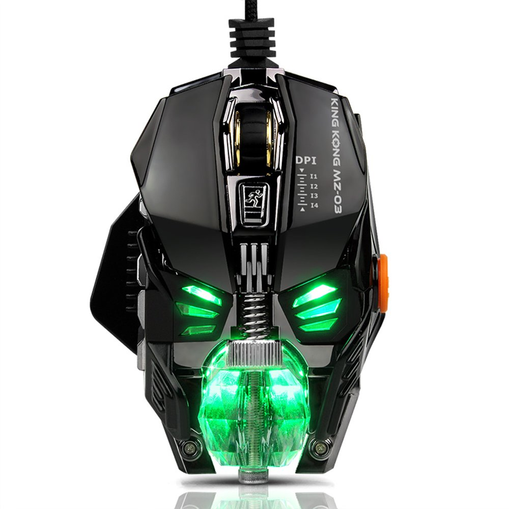 Gaming Mouse for PC Gamer,[RGB spectrum Tunable][Chroma Breathing Light][4000 DPI][Adjustable Weight][8 Programmable Buttons][A3050 high-grade chip]Ergonomic Wired USB Mice for Computer Laptop games