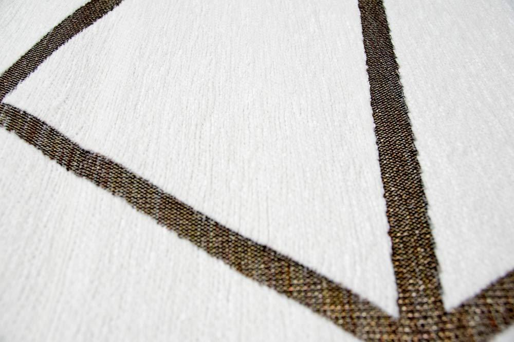 Merinos Orientteppich Wohnzimmer Teppich Geometrisches Muster in Creme Creme Creme Gold Größe 80 x 250 cm B07KB1SHCT Teppiche 12cc18