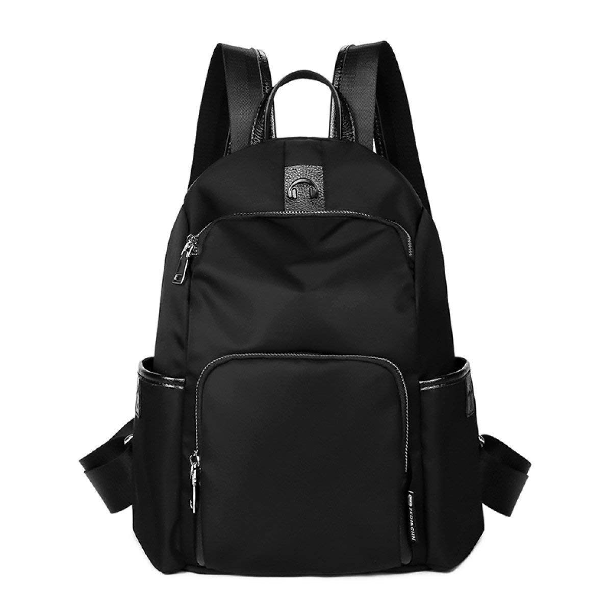 Black One Size Kin Oxford Cloth Shoulder Bag Woman Casual Nylon Canvas Backpack Casual Backpack
