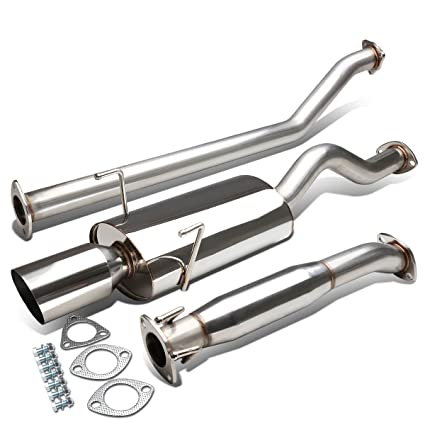 Amazoncom For Acura RSX TypeS Stianless Steel Tip Oval Muffler - Acura rsx type s exhaust