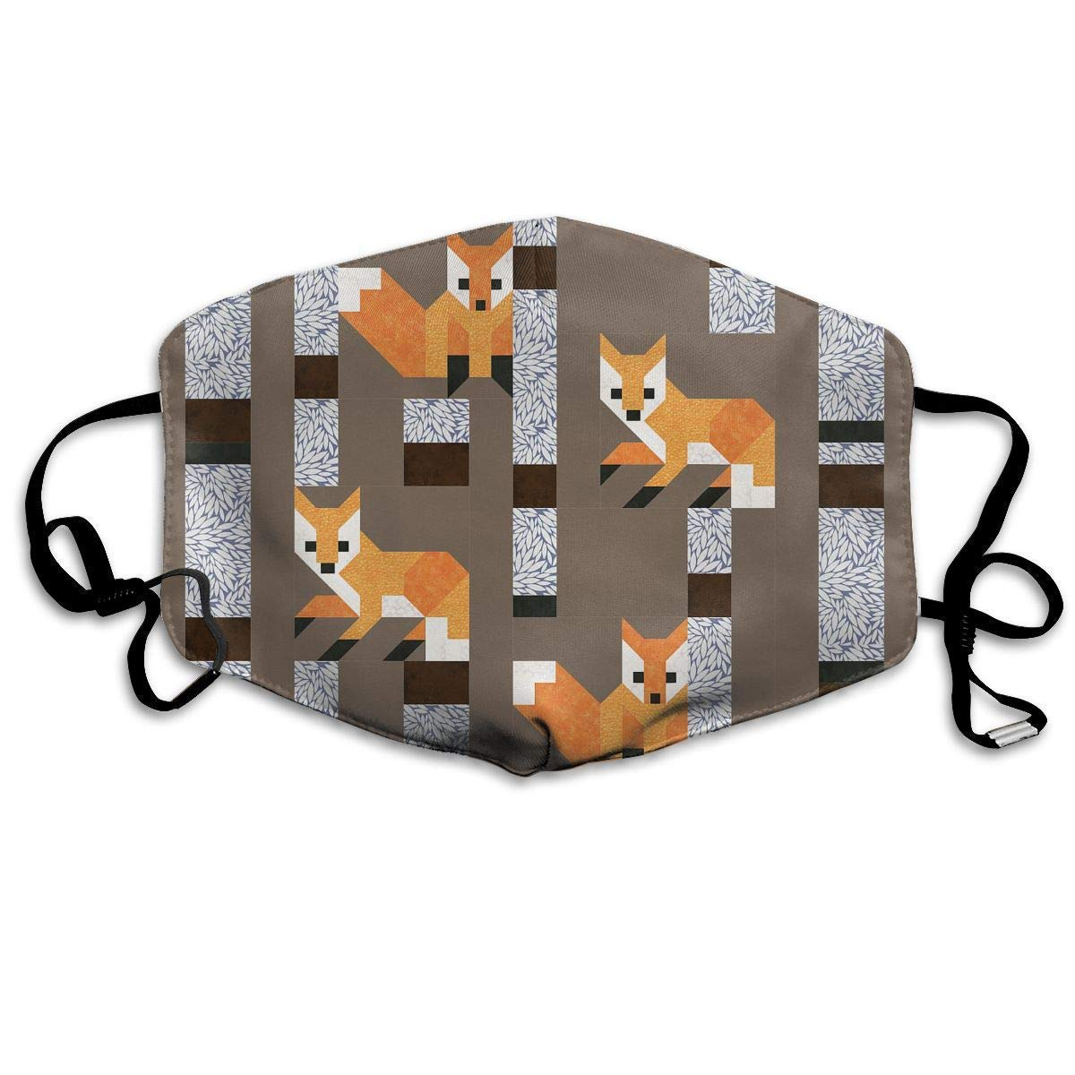 Anti-Bacterial Face Mouth Cover Mask - Windproof Reirator Fox Birches Print Earloop Mask