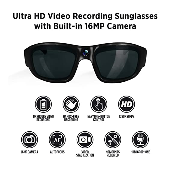 bca5e9d25996d Amazon.com  GoVision Pro 3 Ultra 1080p HD Camera Glasses Video ...