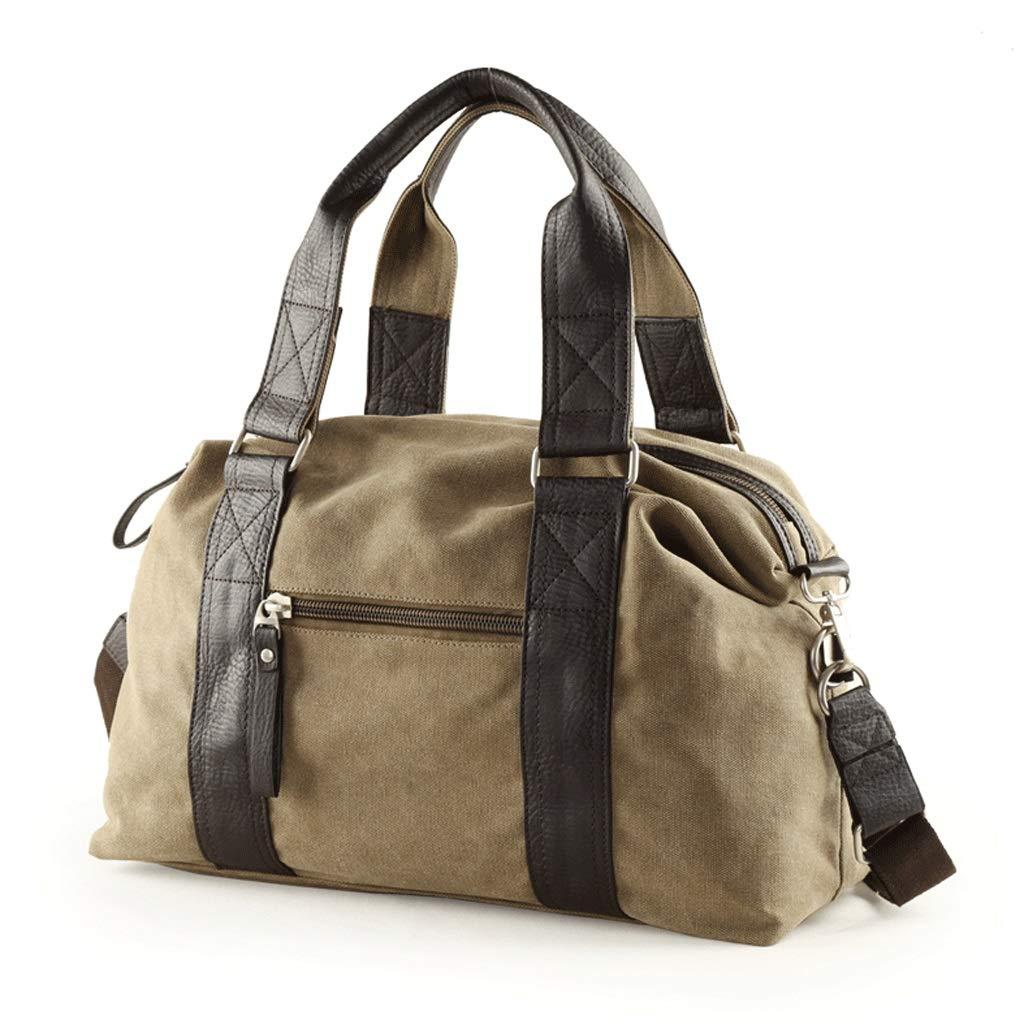 Color : Khaki, Size : 43x16x33cm Outdoor Travel Bag Fitness Bag Short-Distance Luggage Bag Large Capacity 43x16x33cm ZXW Travel Bag