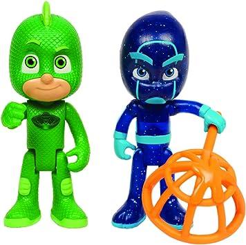 Giochi Preziosi PJ Masks - Par de Figuras geco y Ninja de la Noche