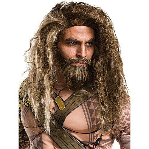 [Rubie's Costume Co. Men's Batman V Superman: Dawn of Justice Aquaman Beard and Wig, As Shown, One] (Aquaman Halloween Costumes)