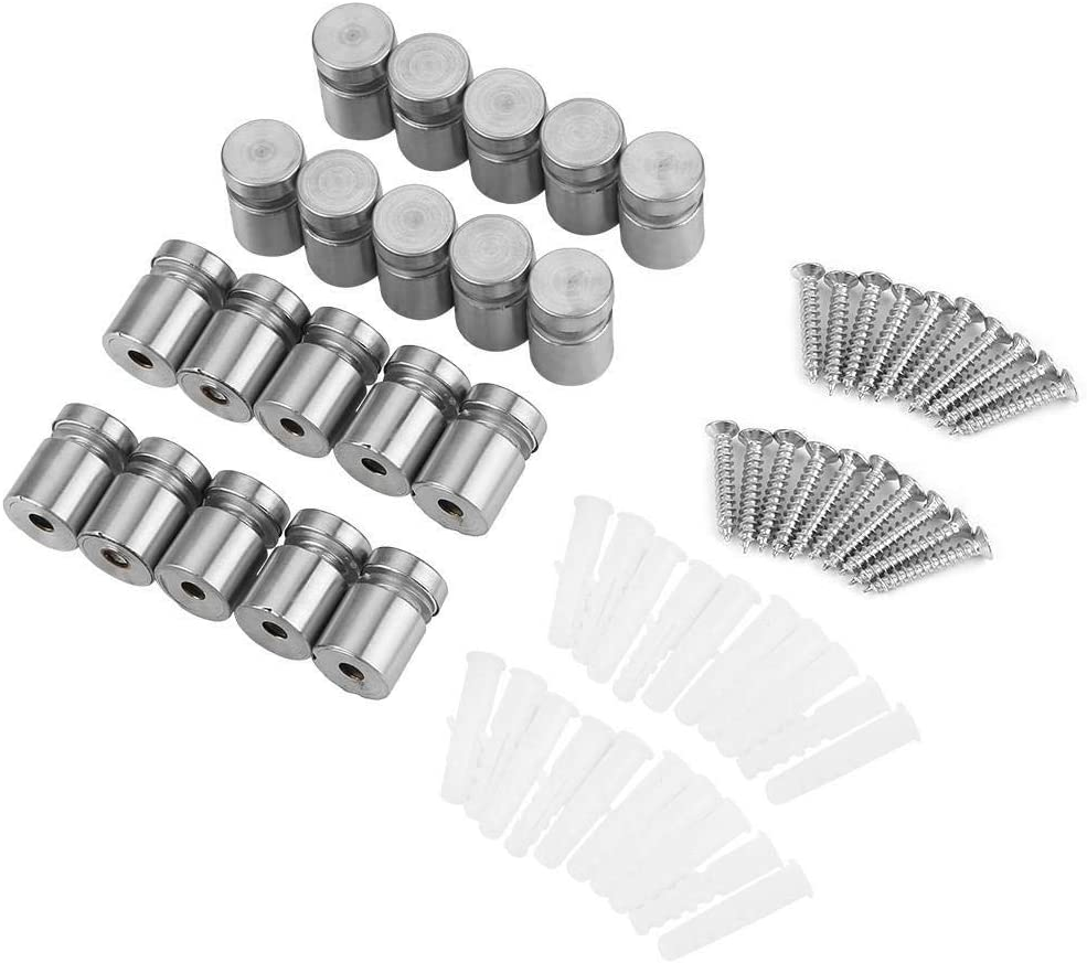 Maxmartt 20Pcs M1220mm Stainless Steel Advertise Fixing Pin Glass Standoff Mounting Bolt