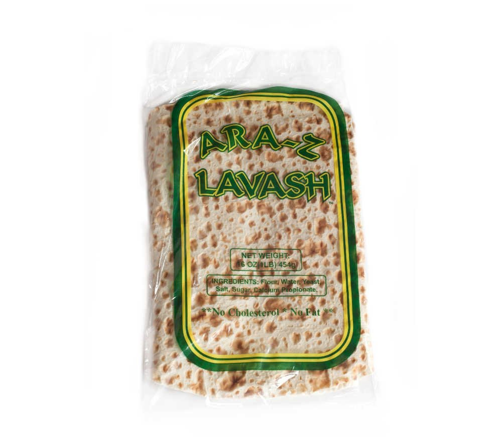 Pack of 40 Lavash Flat Bread by Ara-z. 10 Packs of 4, Delicious, No Cholesterol, GMO Free, SCS Certified