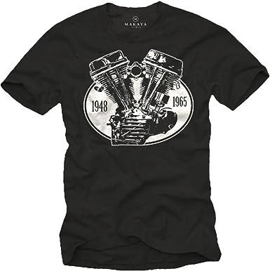 Camiseta con Motor - Panhead - Hombre: Amazon.es: Ropa y accesorios
