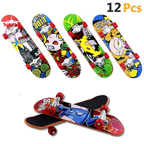 HEHALI 12 PCS Matte Metal Professional Mini Fingerboards Finger Skateboard for $<!--$16.49-->