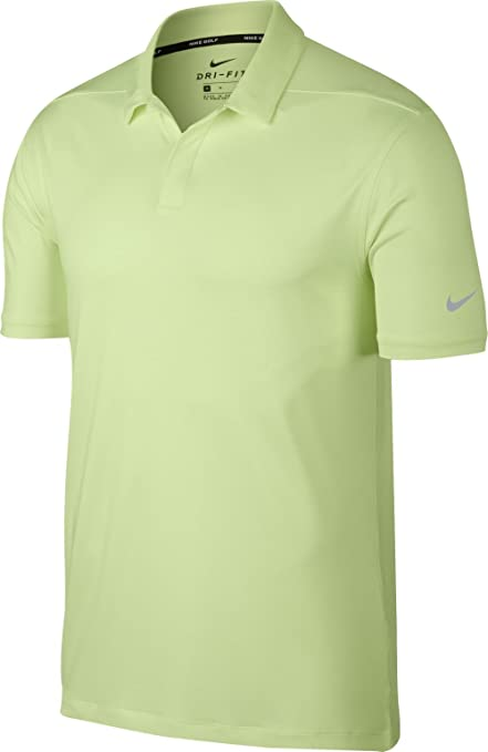 Nike Dri Fit Control Stripe OLC Golf Polo 2018 Barely Volt Flat Silver Small c6d251611