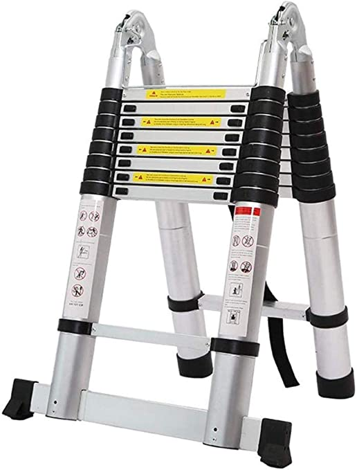 BAOFI Escalera TelescóPica Plegable A Escalera De Aluminio ...