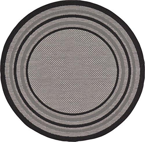 6ft Round Indoor Outdoor Rugs - 4