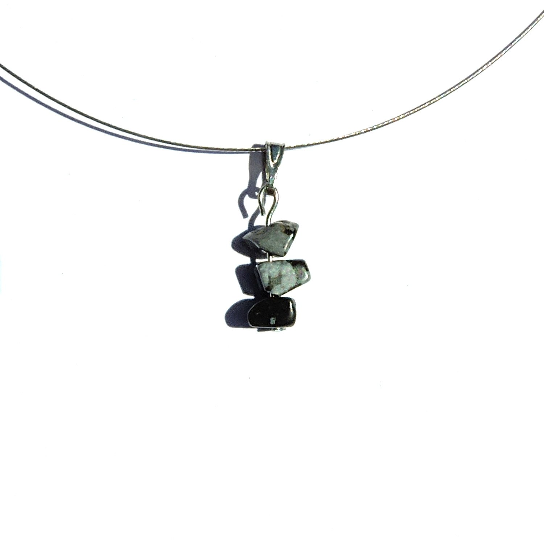 Obsidiana, colgante, collar de la joyería hecha a mano, piedra, collar de la joyería de plata, collar de plata, joyería gema shemidah piedra obsidiana