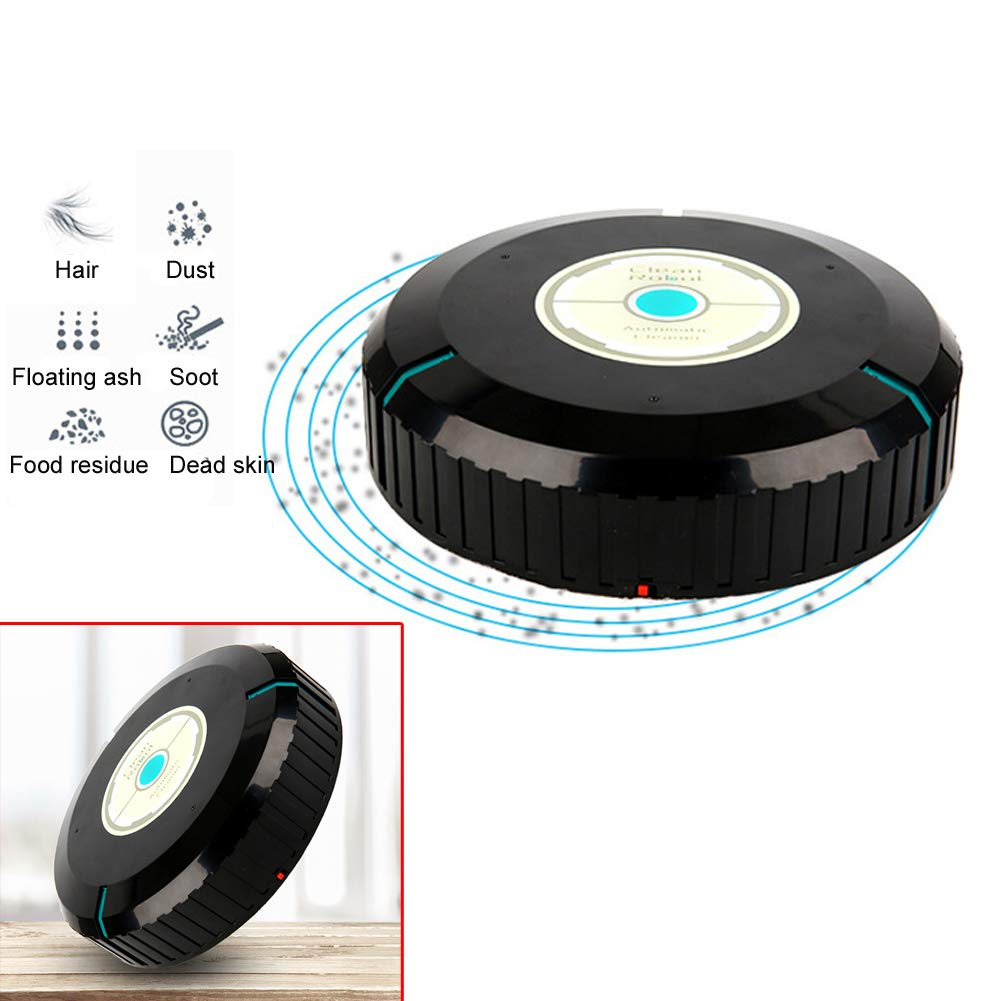 NOQ Floorcleaner Intelligent Robotic Vacuum Cleaner Automatic Pethaircleaner Mini Sweeping Machine (Black)