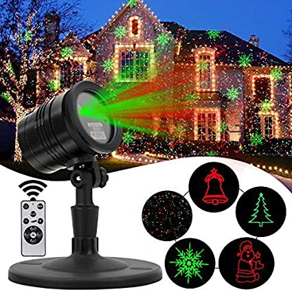Star Shower Outdoor Laser Christmas Lights Star Projector.Christmas Decoration Laser Projector Light Diateklity Red And Green Star Shower Outdoor Laser Light For Christmas Party Landscape House And