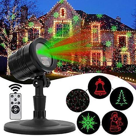 Amazon.com: Navidad decoración Proyector láser Luz ...