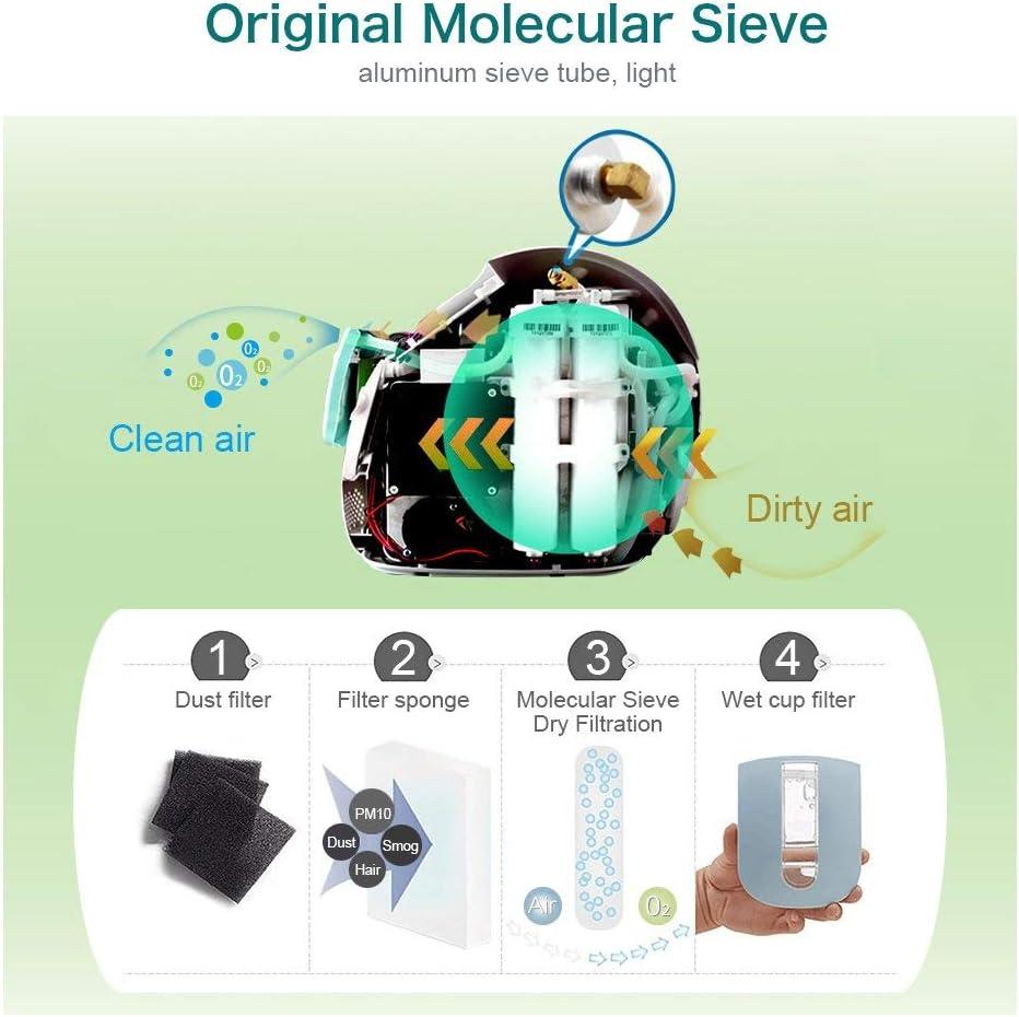 HUKOER Generador de concentrador de oxígeno portátil 1-5L / min 30 ...