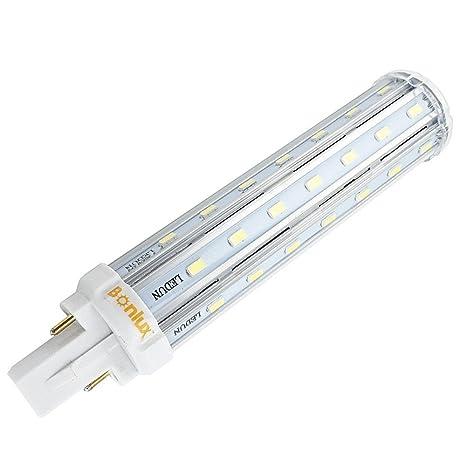 Lampadine Led G24.Bonlux 13w G24 Plc Lampada Led Bianco Caldo 2800k 360 Gradi Universale G24d 2 Pin G24q 4 Pin Base Led Retrofit Pl Lampada 30w Cfl Sostituzione